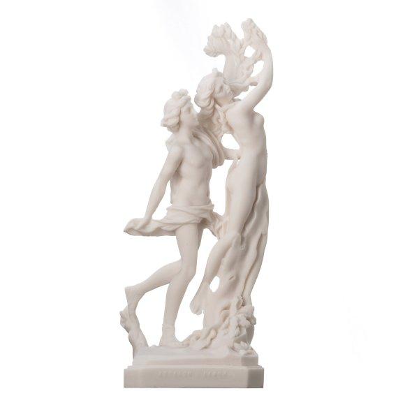 Apollo and Daphne statue powdered marble R. Ruggeri 11.8″ 30cm