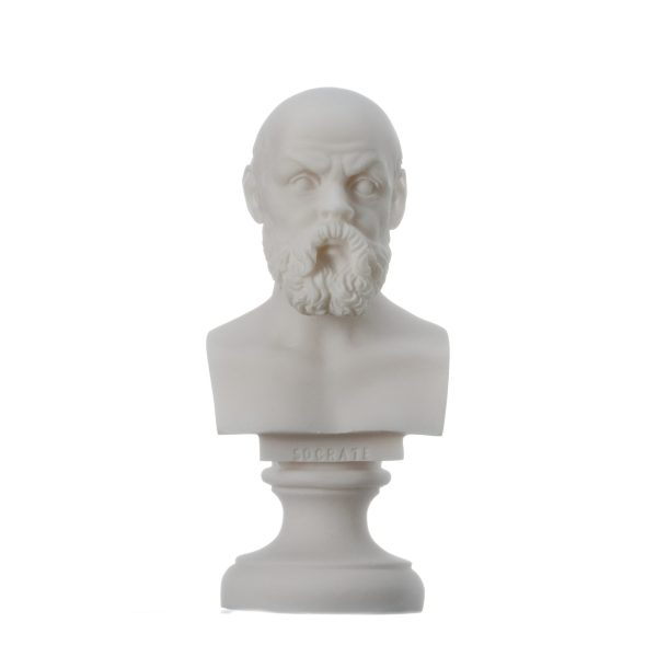 Greek Philosopher SOCRATES Bust Alabaster Statue Sculpture Athens Academy 5.9″