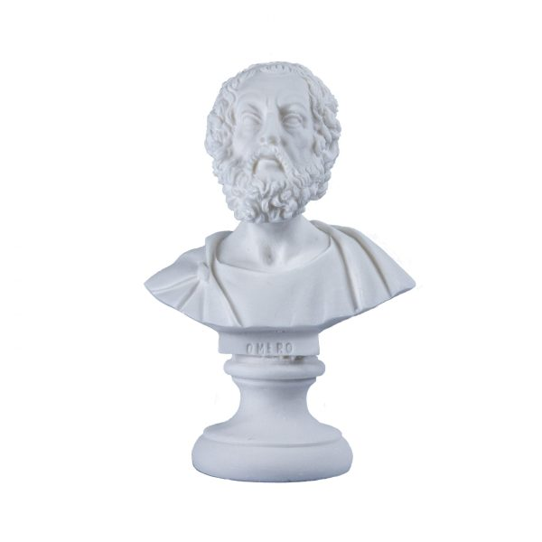 Homer Greek Bust Sculpture Classical Statue Antique Finish Face 5.90 inch