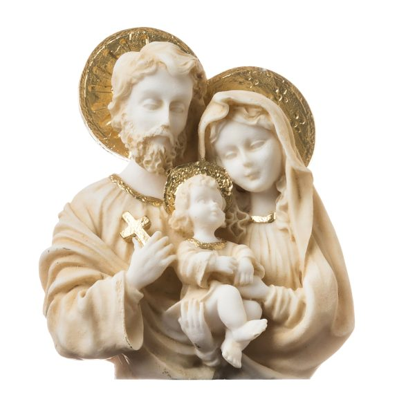 Holy Family Statues of Mary, Joseph and Jesus Statue Figurine Religious Handpainted 4.72″