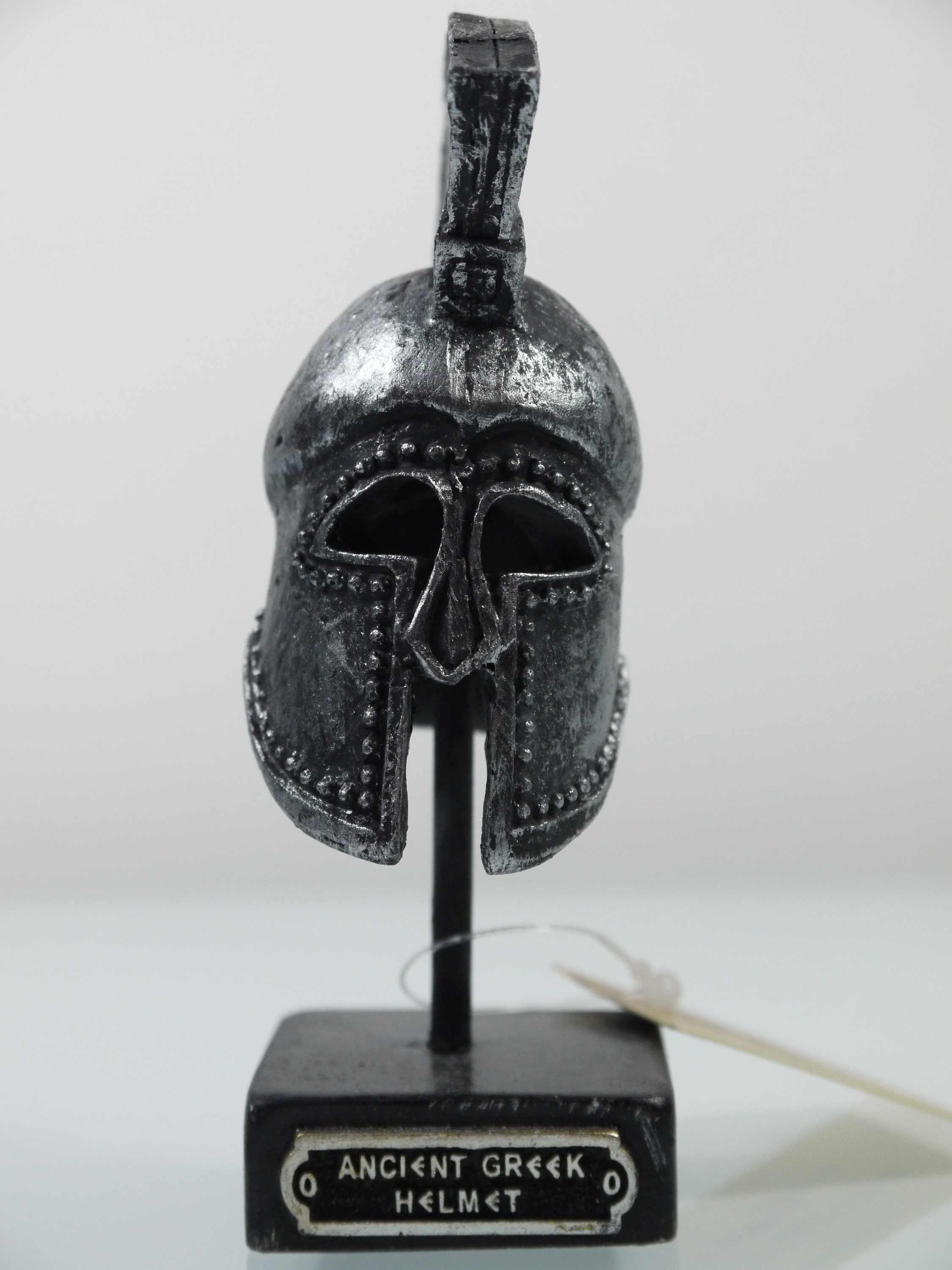 "Ancient Greek Warrior Helmet 3.93"" Collectible Decor Silver Coloured"