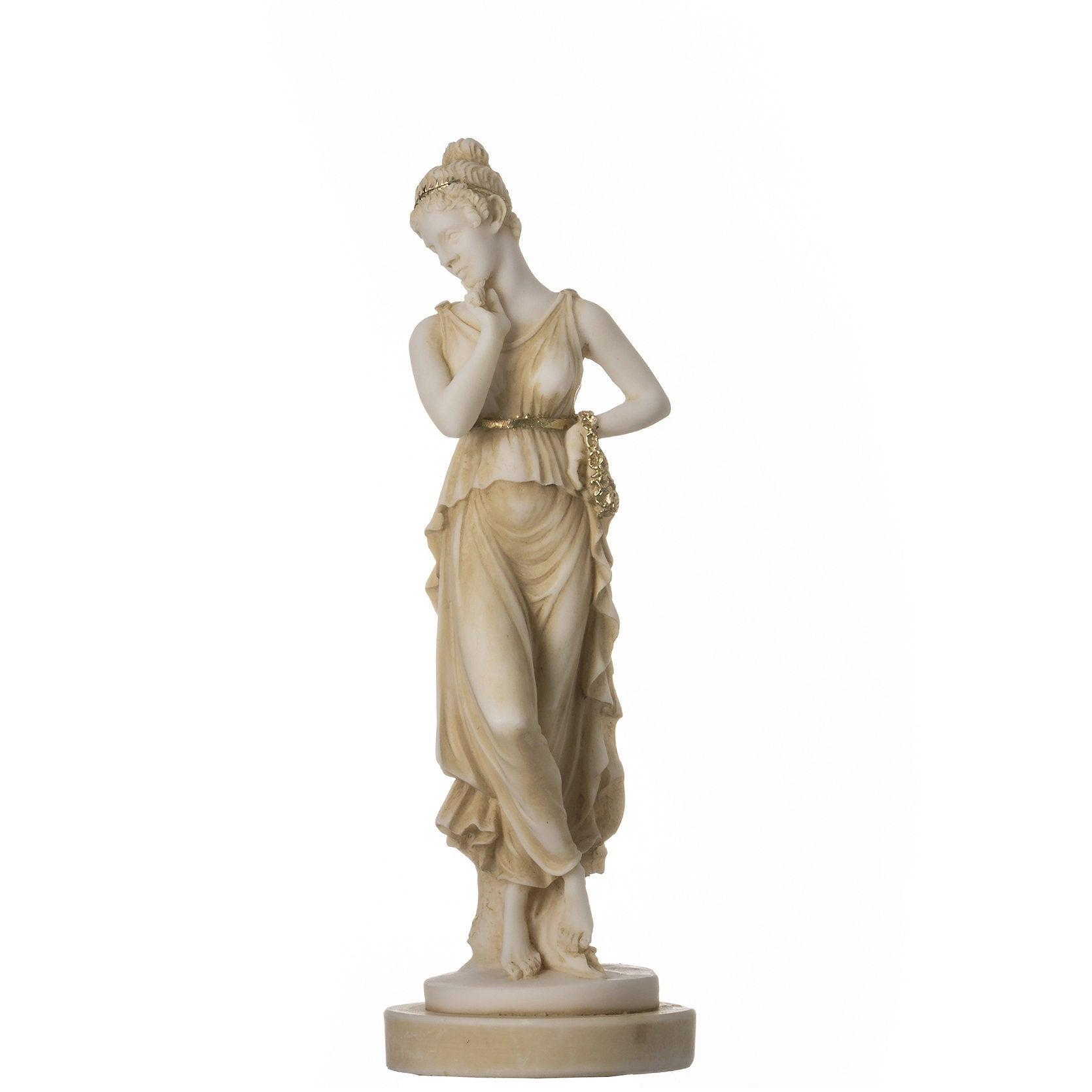 "Persephone Goddess Of The Underworld Handpainted Springtime Flowers&Vegetation Statue 7"""