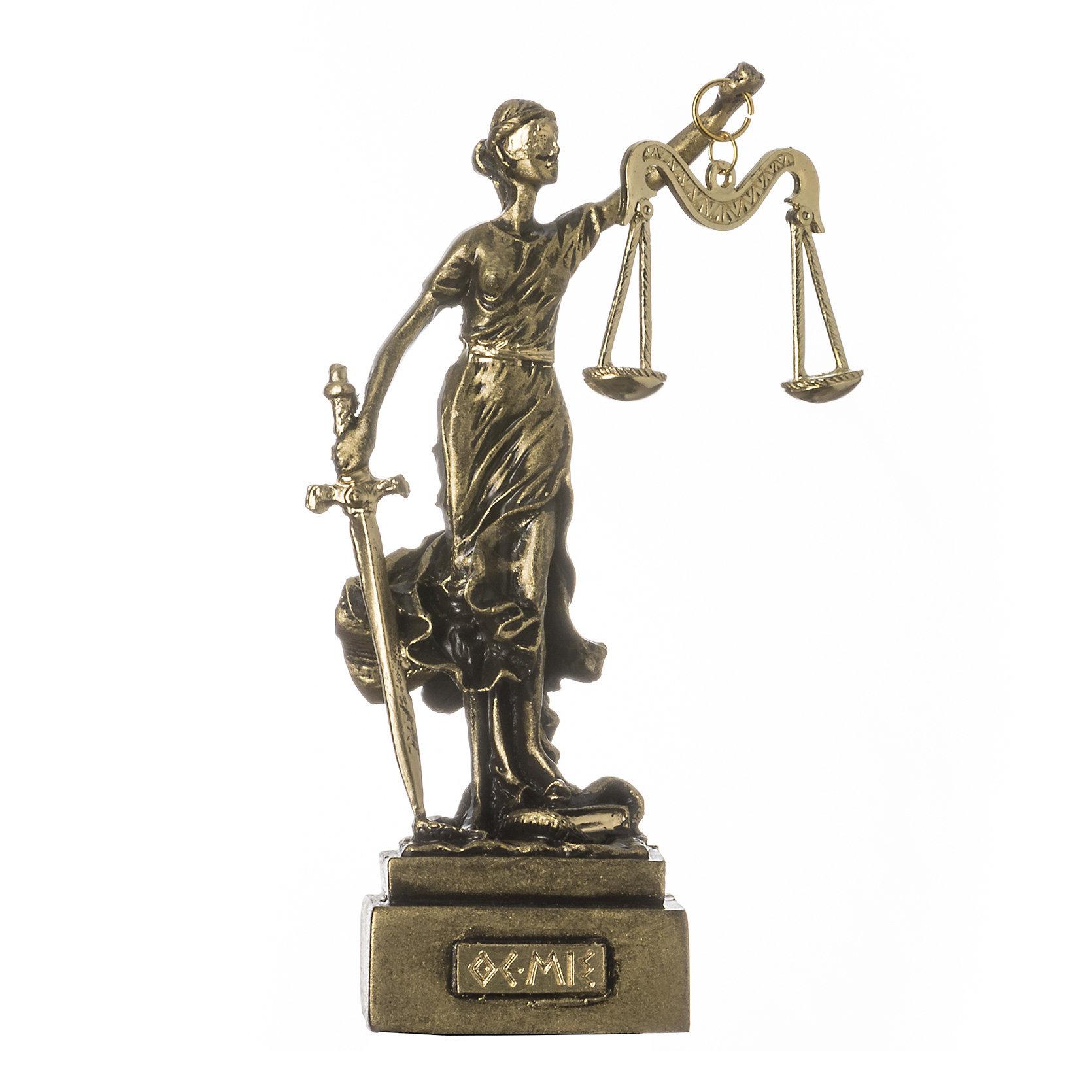 Greek Goddess Themis Statue Figurine Blind Lady Justice Lawyer Gift Bronze Tone