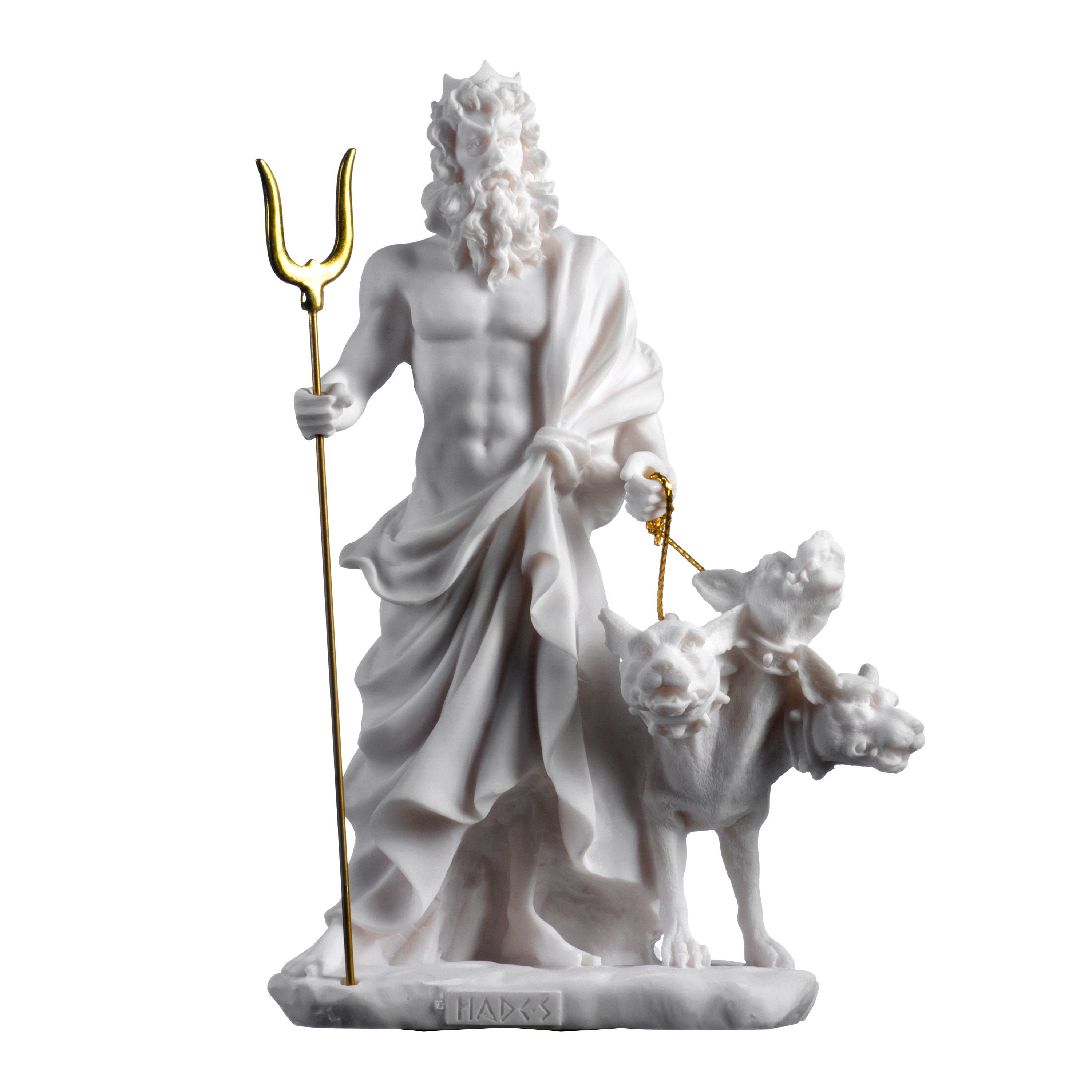 Pluto Hades Lord of the Underworld Greek Statue Dead Figurine Museum 9.4""