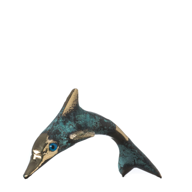 """Minoan Dolphin Crete Knossos Handmade Bronze 10.5cm 4.13"""""""