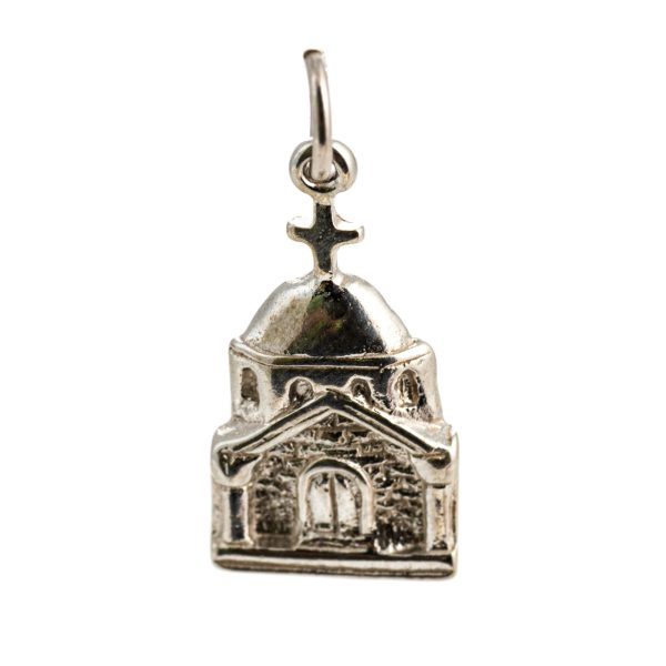925 Sterling Silver Chapel Church Charm Religious Pendant Christian Orthodox