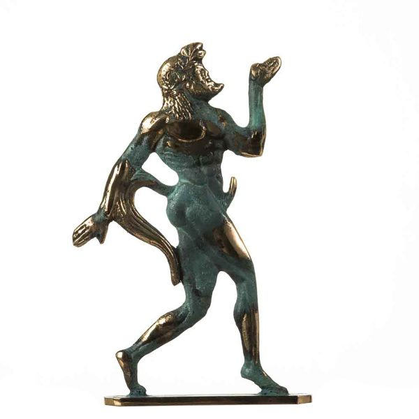 Satyr Pan Faun Hand Made Solid Bronze Erotic Sculpture Figurine Penis Statue Satyr 6.7″