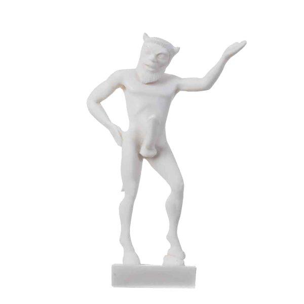 Satyr Pan Panas Greek Roman Statue Handmade Alabaster Male Figure 5.5″ 14cm