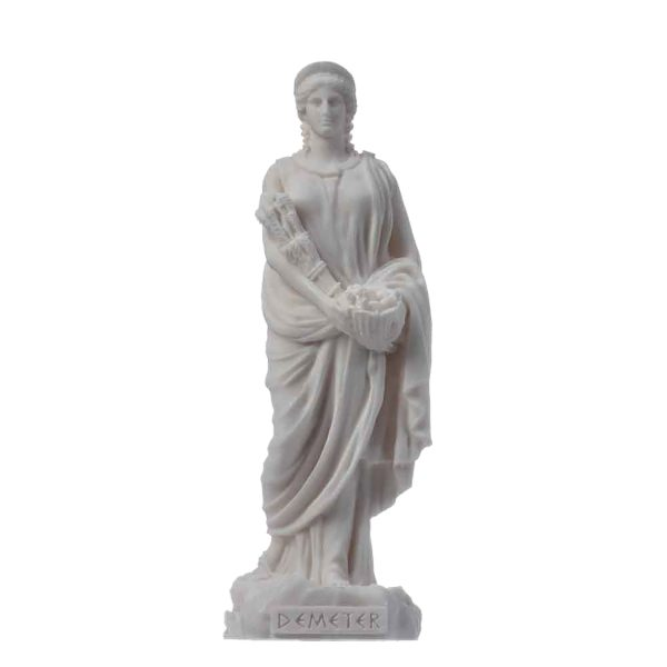 Demeter Goddess of the harvest and agriculture  Alabastater Statue 6.7″