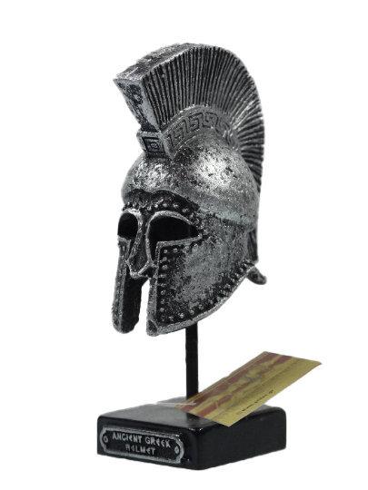 Ancient Greek Warrior Helmet 4.72″ Collectible Decor Silver Coloured