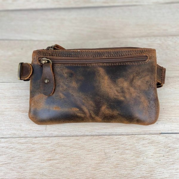 Waist Bag Leather Belt bag Shoulder Bag Vintage Brown Black Handmade Cross Body Saddle Vintage Handbag