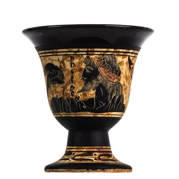 Pythagoras Cup of Justice Pythagorean Fair Mug Ancient Greek God Poseidon Hand Painted Ceramic Usable