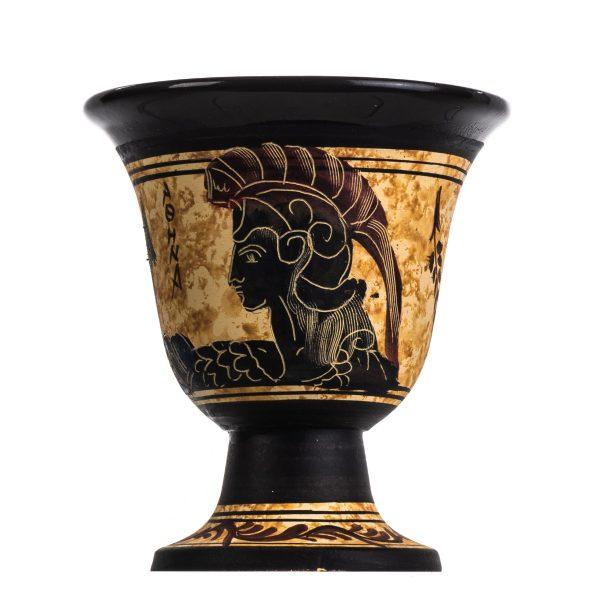 Pythagoras Cup of Justice Pythagorean Fair Mug Ancient Greek Goddess Athena Hand Painted Ceramic Usable
