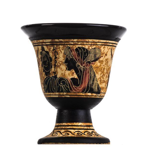 Pythagoras Cup of Justice Pythagorean Fair Mug Ancient Greek Goddess Aphrodite Hand Painted Ceramic Usable