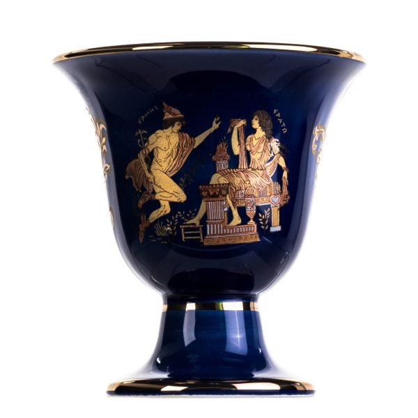 Pythagoras Cup of Justice Hermes Erato Pythagorean Fair Mug Ancient Greece Blue Cobalt Usable