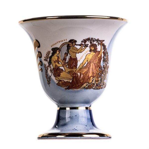 Pythagoras Cup of Justice Dionysus Zeus Pythagorean Fair Mug Ancient Greece Blue Cobalt Usable
