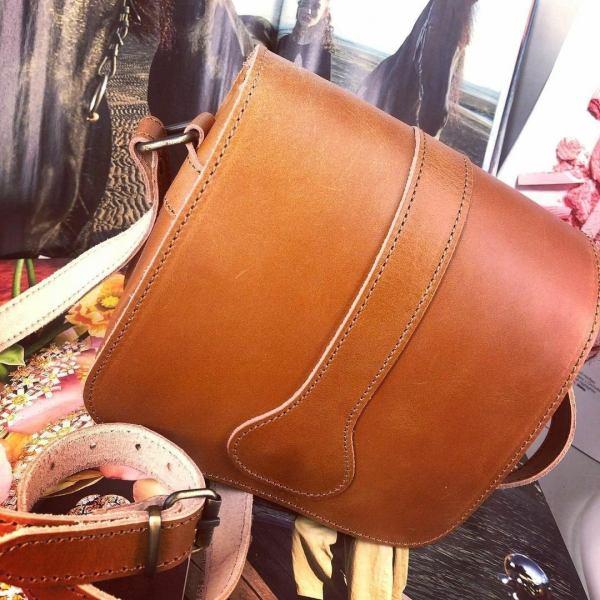 Leather Shoulder Bag Handmade Design Natural Beige Brown Black Cross Body Satchel Vintage Saddle Handbag Purse L