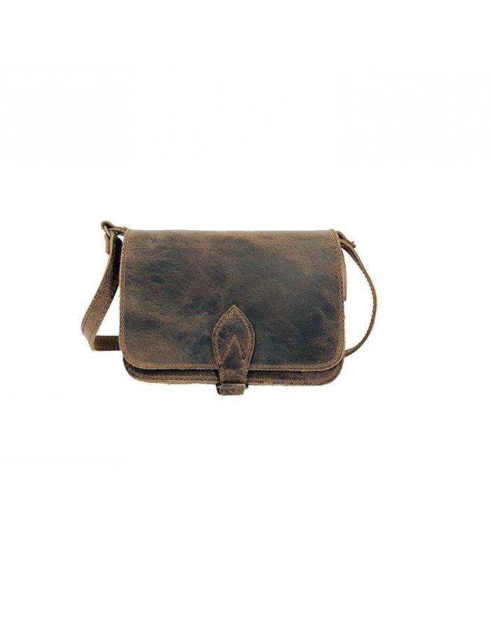 Leather Shoulder Bag Handmade Natural Tan Beige Brown Cross Body Satchel Vintage Saddle Handbag Purse