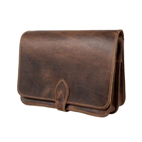 Leather Shoulder Bag Handmade Natural Tan Beige Brown Cross Body Satchel Vintage Saddle Handbag Purse M