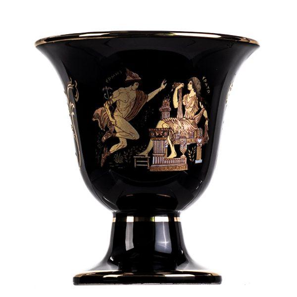 Pythagoras Cup of Justice Hermes Erato Pythagorean Fair Mug Ancient Greece Black Cobalt Usable
