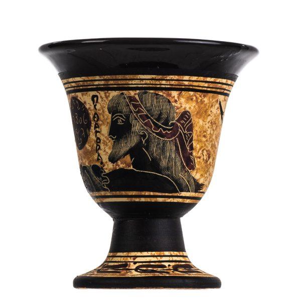 Pythagoras Cup of Justice Pythagorean Fair Mug Hand Painted Ceramic Usable