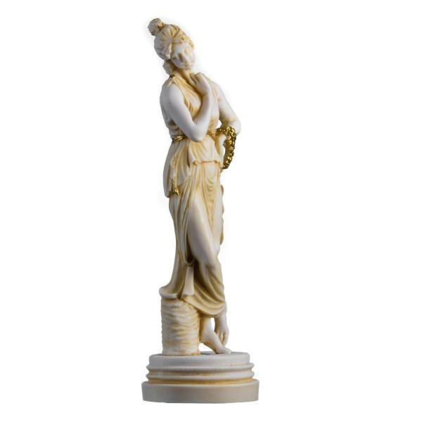 Persephone Goddess Of The Underworld Springtime Flowers&Vegetation Gold 11.8″