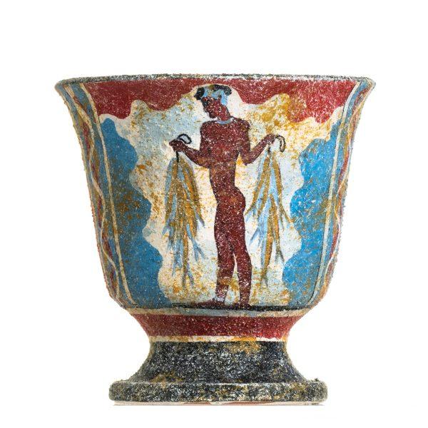 Pythagoras Cup of Justice Pythagorean Fair Mug Ancient Greek Fisherman Ceramic Hand Painted