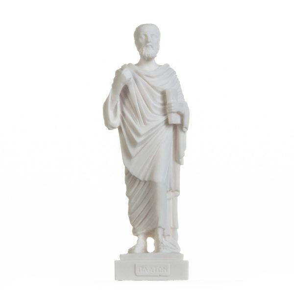 Plato Greek Father Of Philosophy Figurine Alabaster Statue Handmade 9.5 Inches