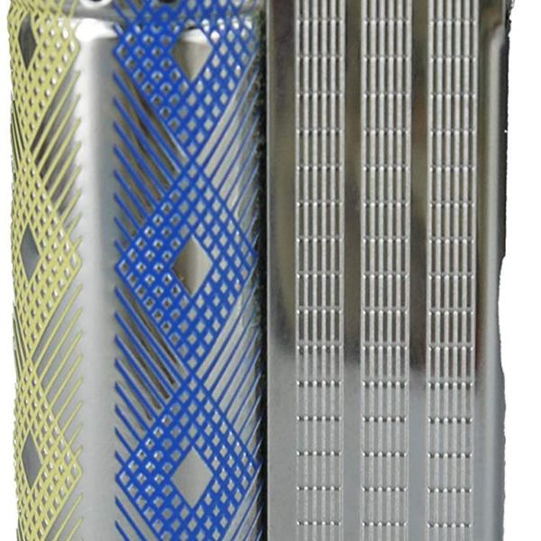 Vintage IMCO Lighter Junior 6600 Made in Austria Blue Yellow Rhombus New Old Stock