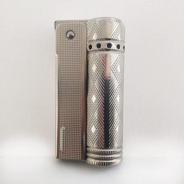 Vintage IMCO Lighter Junior 6600 Made in Austria Silver Rhombus New Old Stock