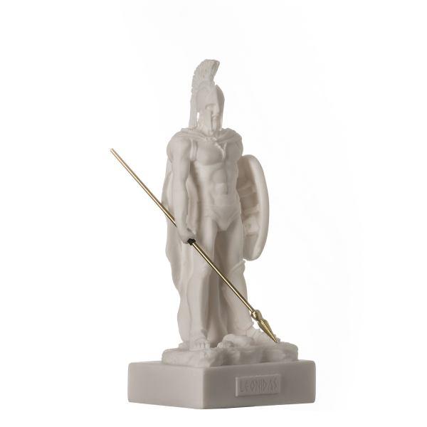 LEONIDAS Warrior King Spartan Statue Greek Sculpture Figure Alabaster 6.7″ / 17cm F.Shipping