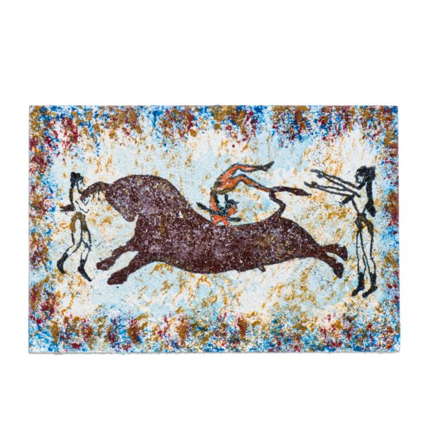Ancient Greek Minoan Wall Painting Bull-Leaping Small Handmade Decoration Gift 4 Inches
