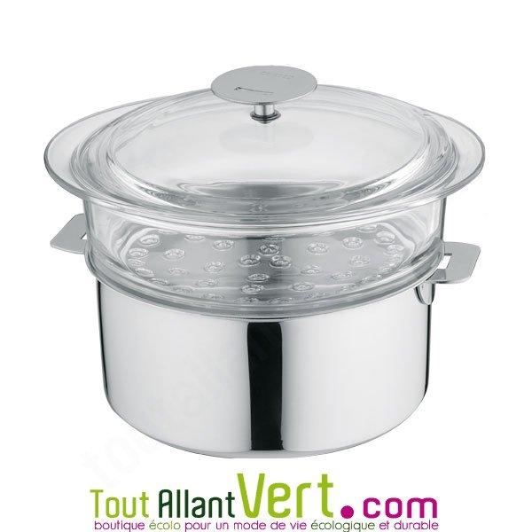 cuit vapeur en verre 24cm cristel