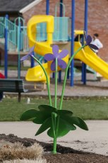 You can find our Round-Lobbed Hepatica sculpture at Boettler Park in Green.