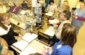 NICU medical team rounds in 2004