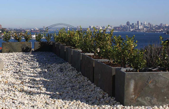 Rooftop Garden Design And Landscaping With Planter Boxes