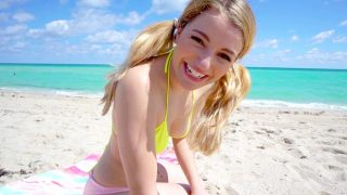 BangYNGR – Abby Adams – Wants To Get Fucked On The Public Beach