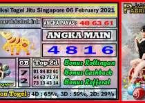 Prediksi Togel Jitu Singapore Sabtu 06 February 2021