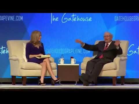 Warren Buffett interview 2019 at GateHouse hands up for success