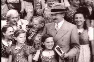 Adolf Hitler with children