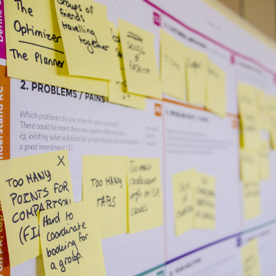 Strategy post it notes