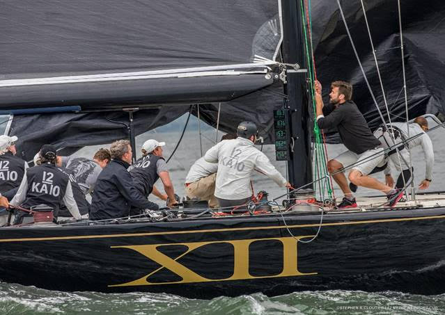 Action aboard Challenge XII at the 2017 Newport Trophy. (Photo credit: Stephen Cloutier)
