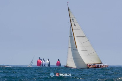 Onawa (US-6) racing at the 2019 12mR Pre-Worlds, Newport, RI USA