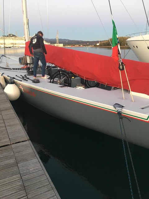 Italia II (I-9) restoration and re-launch 2020-- photos courtesy of owner, Maurizio Vecchiola