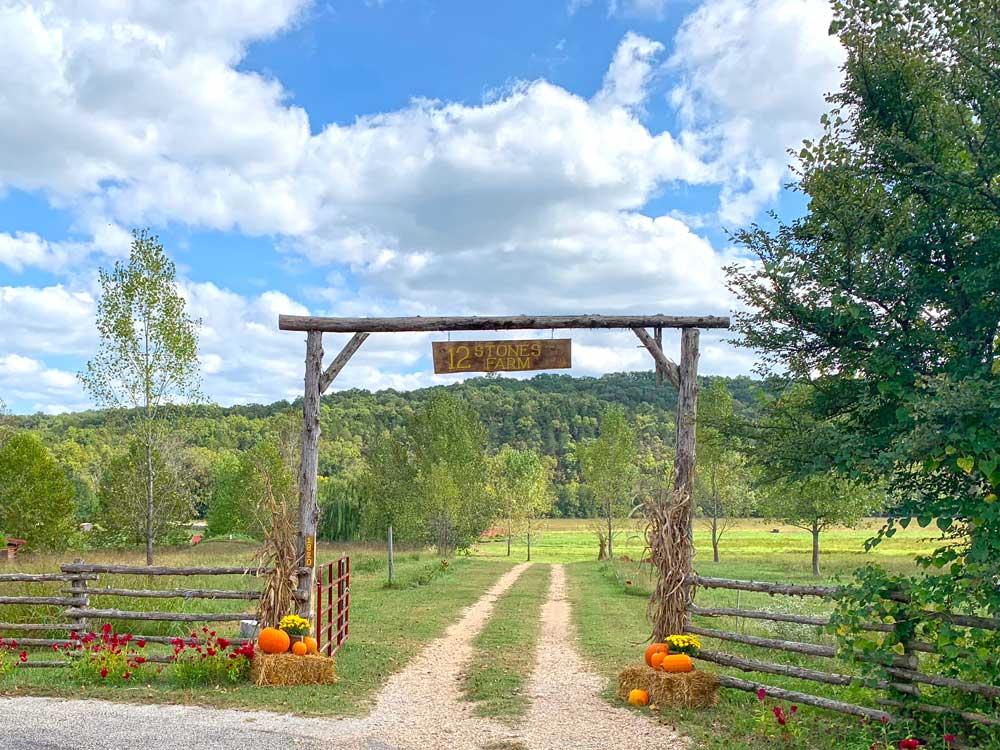 entrance to 12 stones farm