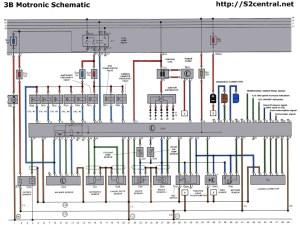 Audi S2 3B original wiring harness illustration