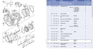 Diagram of nissan 1400 gearbox