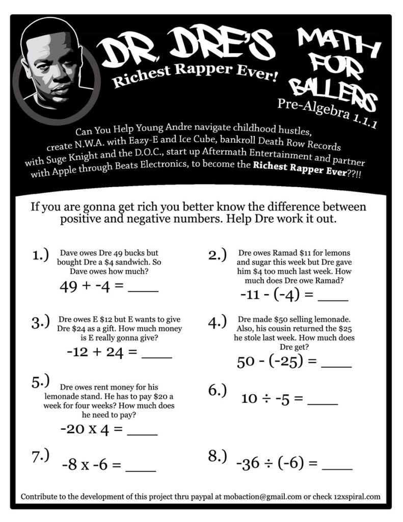 Dr. Dre's math for baller