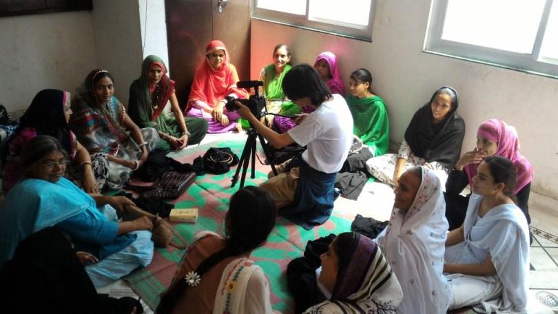 印度BGVS婦女工作坊採訪拍攝實景。