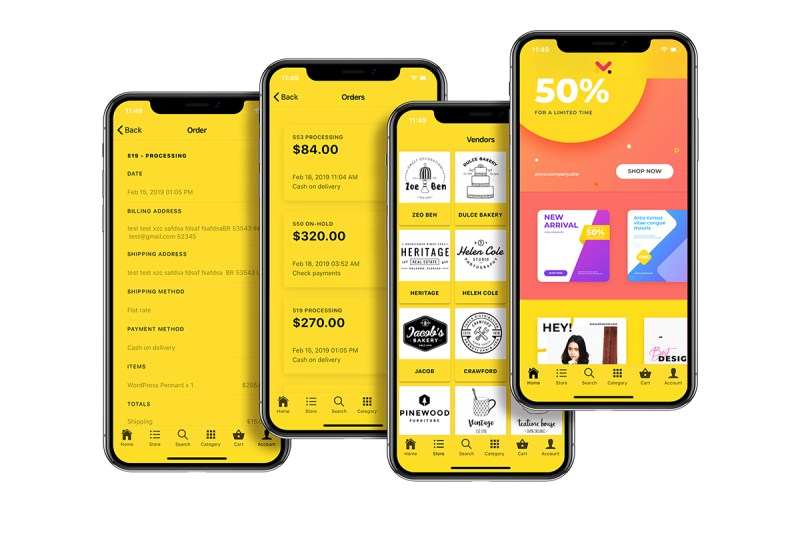 Quick Order ionic 5 mobile app for woocommerce with multivendor features - 18